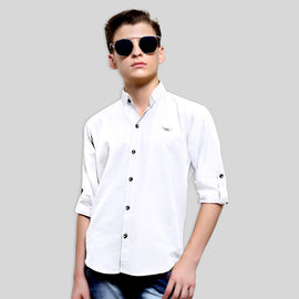 MashUp Classic White Shirt for Young boys
