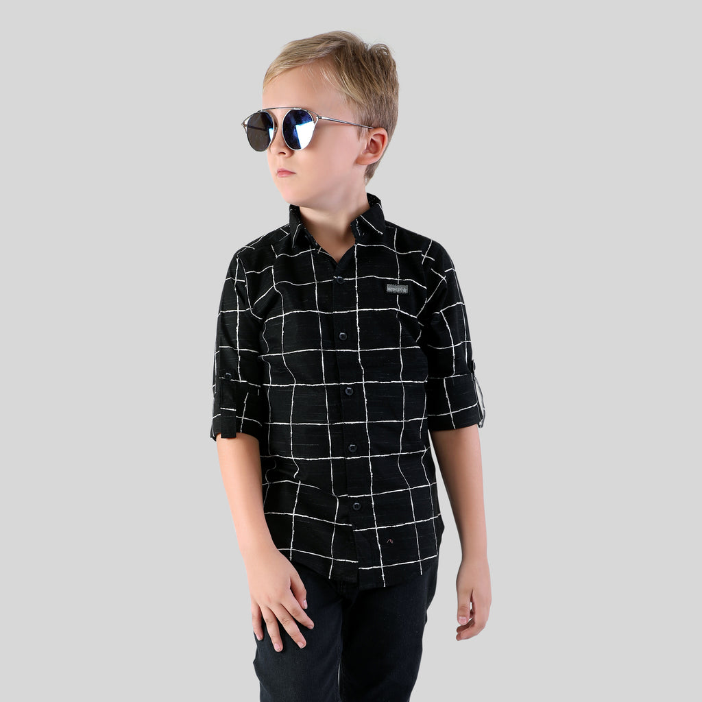 MashUp stylish printed cotton Shirt for Young boys