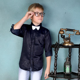 MashUp Trendy Jacquard Shirt & BowTie for Young boys