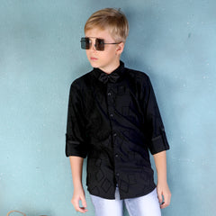 MashUp Classic Printed Shirt & BowTie for Young boys