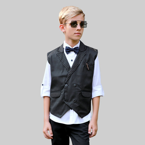 MashUp Stylish formal party shirt with waistcoat and a tie