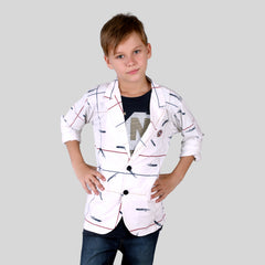 MashUp Fashionable blazer set  for Young boys