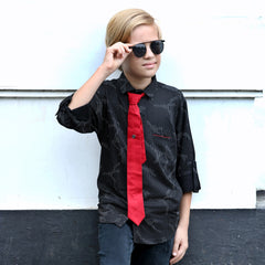 MashUp Classic Striped Shirt & Tie for Young boys