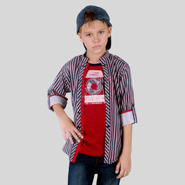 MashUp Stylish Printed Shirt Set for Young boys