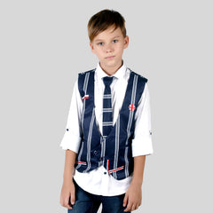 Stylish and fashionable party shirt with waistcoat and a tie