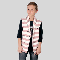 MashUp Stylish Printed Shrug Set for Young boys