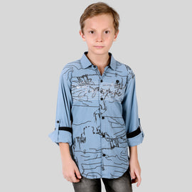 MashUp Stylish Printed Shirt for Young boys