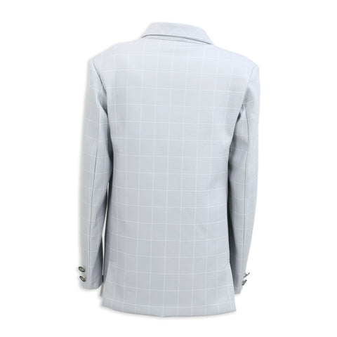 ELEGANT AND COMFORTABLE GREY KNITTED COTTON SUITING