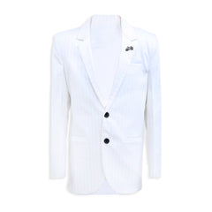 PARTY WEAR WHITE COTTON SUITING