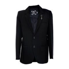 STYLISH AND CASUAL BLACK COTTON SUITING