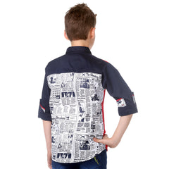 MashUp Newspaper Print Shirt - KRAZYLA