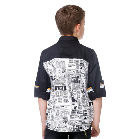 MashUp Newspaper Print Shirt - mashup boys