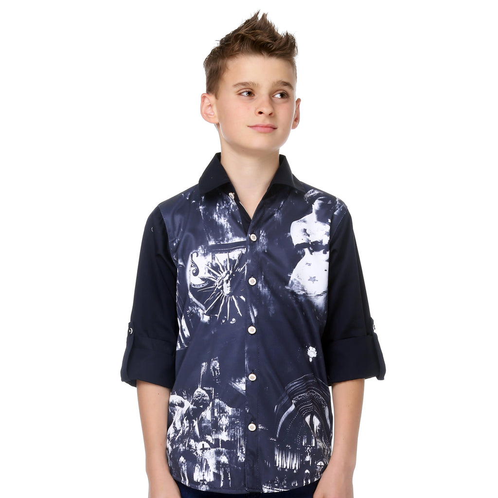 Mashup Boy's Graphic Print Party Shirt - KRAZYLA