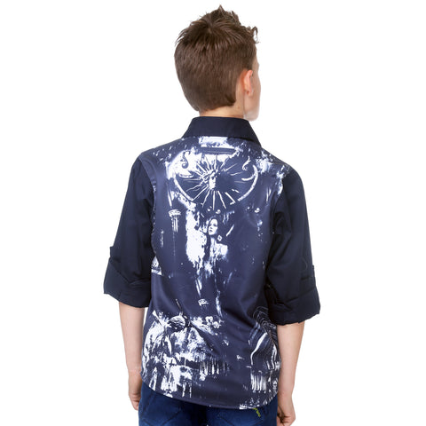 Mashup Boy's Graphic Print Party Shirt - mashup boys