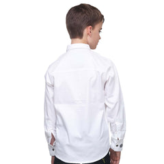 MashUp Classic White Tuxedo Shirt with Bowtie - mashup boys