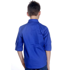 MashUp Basics Indigo Blue Shirt - mashup boys