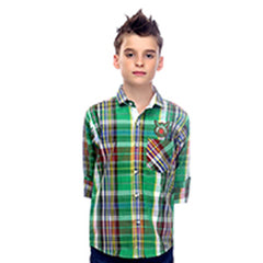 MashUp Green Checkered Shirt - mashup boys