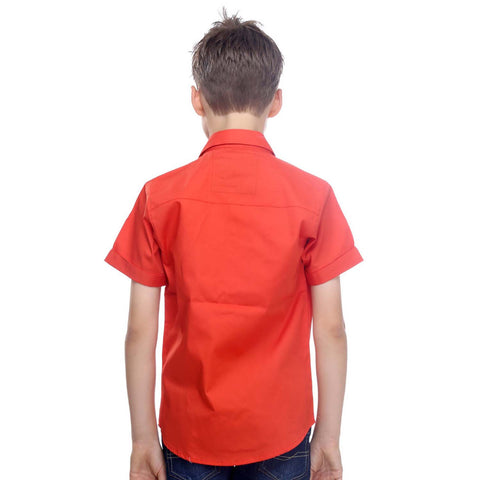 Orange Half-Sleeve Shirt - mashup boys