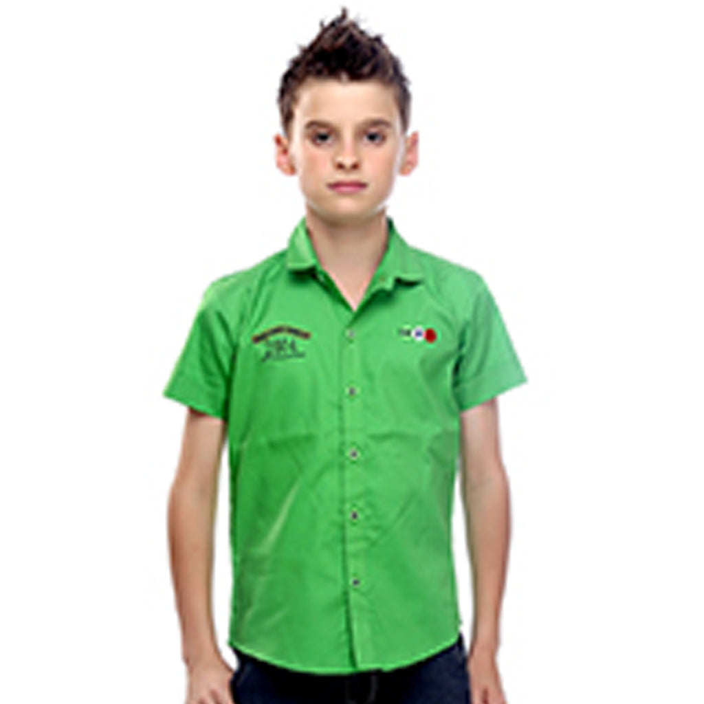 Green Half Sleeve Shirt - mashup boys