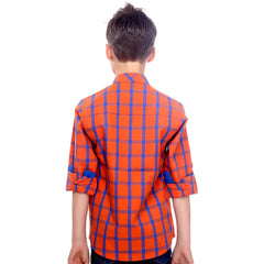 Orange Gingham Shirt - KRAZYLA