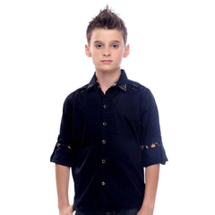 MashUp Designer Collection -  black shirt - mashup boys