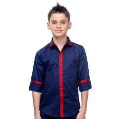 MashUp Blue Shirt For Boys - KRAZYLA