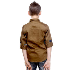 MashUp Club Classics - brown formal  shirt - mashup boys