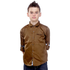 MashUp Club Classics - brown formal  shirt - KRAZYLA