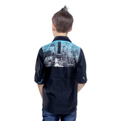 MashUp Skyline Digital Print Shirt - KRAZYLA