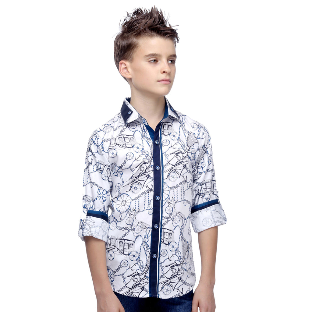 MashUp Chain & Wheel Printed Shirt - mashup boys