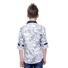 MashUp Chain & Wheel Printed Shirt - KRAZYLA