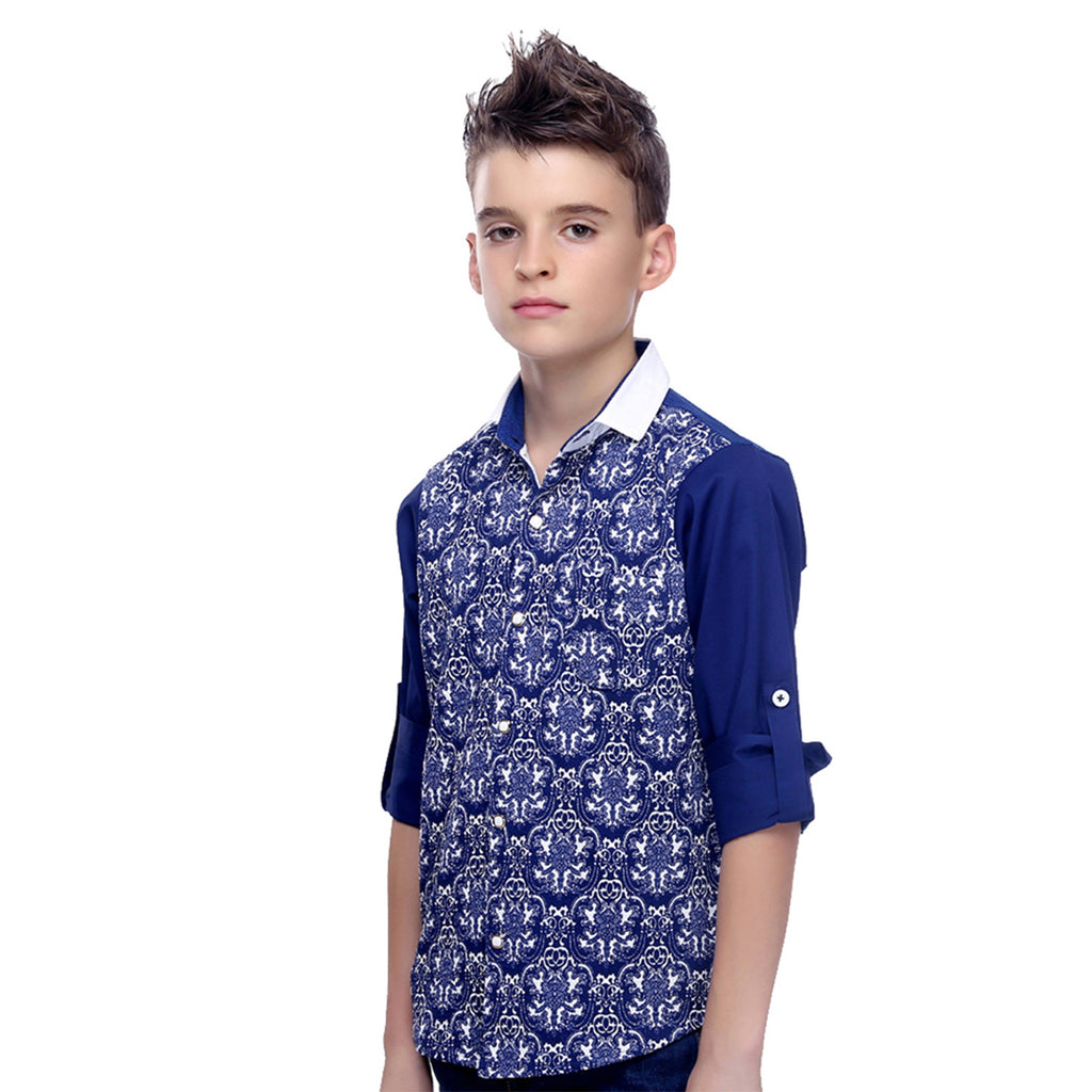 MashUp Print Mania Blue Shirt - mashup boys