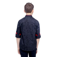 MashUp Paisley Print Black Shirt - mashup boys