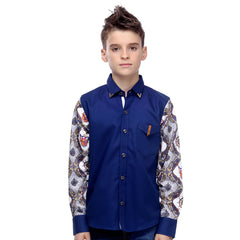 MashUp Funky Printed Sleeves Shirt - KRAZYLA