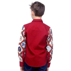 MashUp Funky Printed Sleeves Shirt - mashup boys