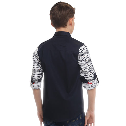 MashUp Print Mania Navy Blue Shirt - mashup boys