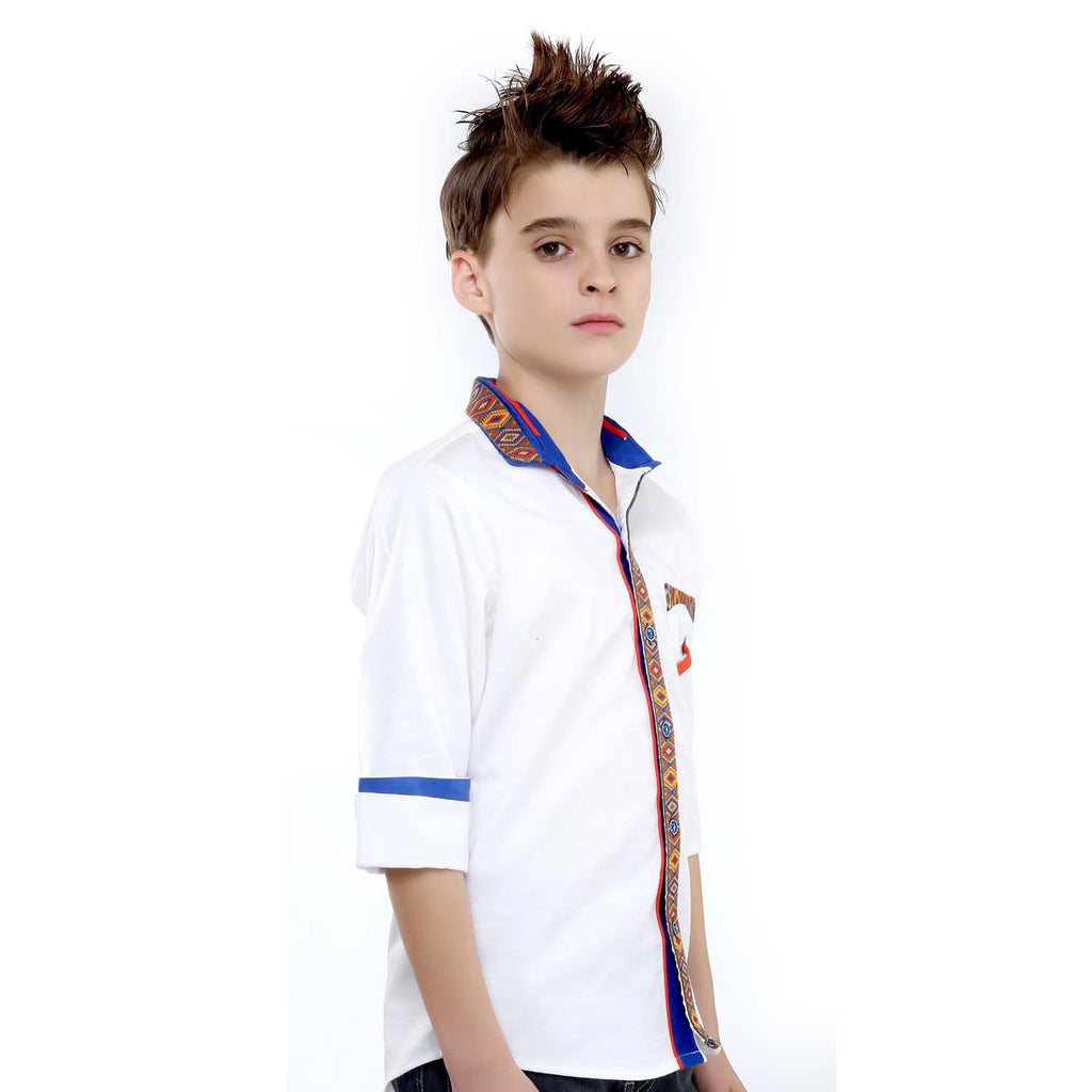 MashUp White Designer Shirt - mashup boys