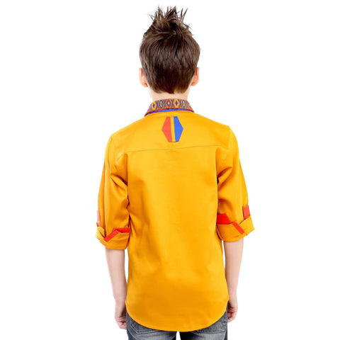 MashUp Yellow Designer Shirt - mashup boys