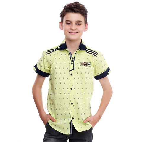 MashUp Color Crush – lime green printed shirt - KRAZYLA