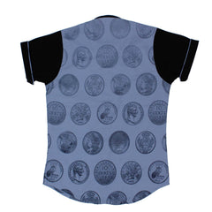 MashUp Coin Print Grey Shirt - mashup boys