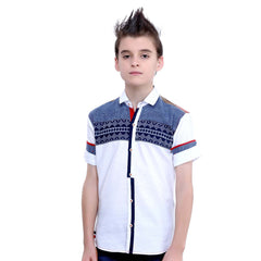 MashUp White Ethnic Pattern shirt - mashup boys