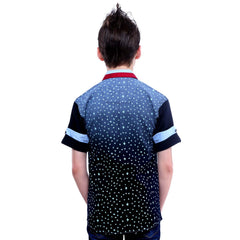 MashUp Bird Print Navy Blue Shirt - KRAZYLA