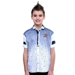 MashUp Bird Print White Shirt - KRAZYLA