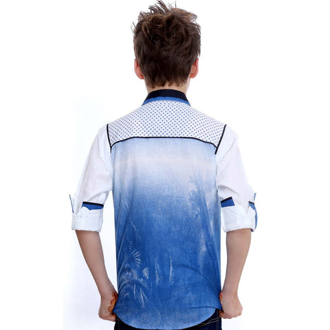MashUp Blue Ombre Shirt - mashup boys