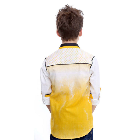 MashUp Yellow Ombre Shirt - mashup boys