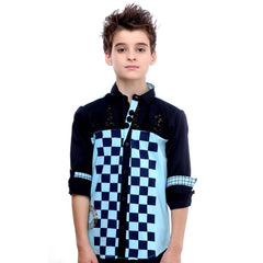 MashUp Checkered Blue Shirt - KRAZYLA