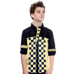 MashUp Checkered Yellow Shirt - KRAZYLA