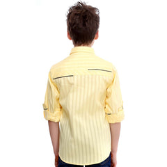 MashUp Yellow Designer Shirt with Polka Dot Bowtie - mashup boys