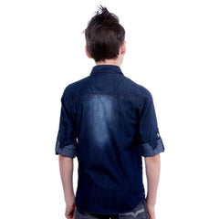 MashUp Techno Print Denim Shirt - KRAZYLA