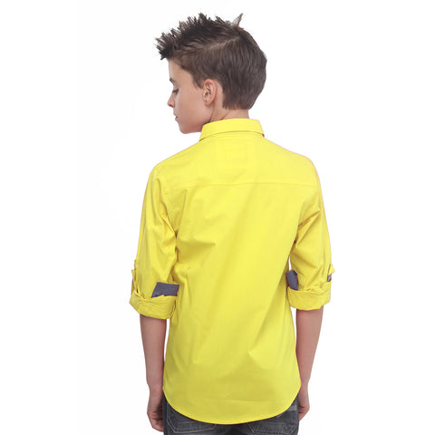 MashUp Yellow Casual Shirt - KRAZYLA